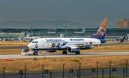 AÉROPORT FRANCFORT, ALLEMAGNE : LE 23 JUIN 2017 : Boeing 737-800 SunExpr Photographie stock