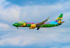 AÉROPORT FRANCFORT, ALLEMAGNE : LE 23 JUIN 2017 : Mouche Deu de Boeing 737 TUI Photo stock