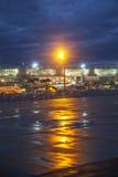 Aéroport Francfort pendant le matin Photos stock