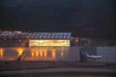 Aéroport Francfort pendant le matin Images libres de droits