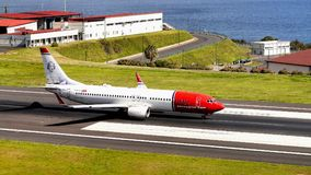 Aéroport Funchal, île de la Madère, Portugal Photo stock