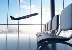 Aéroport futuriste Photographie stock libre de droits