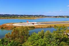 Aéroport Grèce de Corfou Images stock