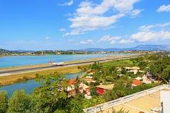 Aéroport Grèce de Corfou Photo libre de droits