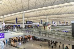Aéroport Hong Kong de Kaitak Images libres de droits