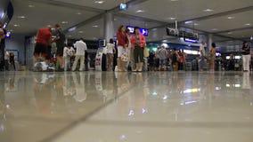 Aéroport international Borispol. Zone de stockage dans le nouveau terminal F banque de vidéos