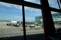 Aéroport international capital de Pékin Photographie stock libre de droits