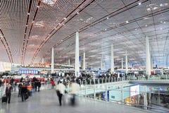 Aéroport international capital de Pékin de hall de départ Photo stock