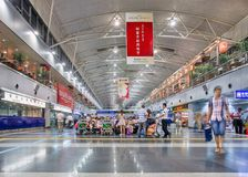 Aéroport international capital intérieur de Pékin, terminal 2, Chine Photographie stock libre de droits
