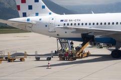 Aéroport international Croatie de Dubrovnik Photographie stock libre de droits