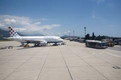 Aéroport international Croatie de Dubrovnik Photo stock