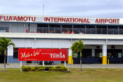 Aéroport international d'amotu de ` de Fua sur l'île de Tongatapu au Tonga Photo stock