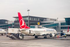 Aéroport international d'Istanbul Images libres de droits