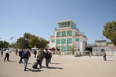 Aéroport international dans la ville de Hargeisa Images stock