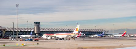Aéroport international de Barajas, Madrid Image stock