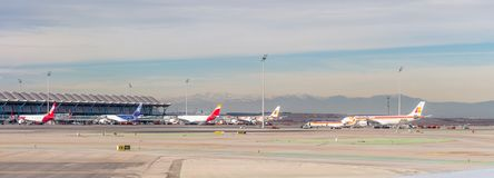 Aéroport international de Barajas, Madrid Photographie stock libre de droits