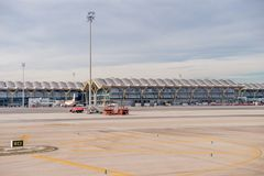 Aéroport international de Barajas, Madrid Photo stock