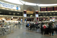 Aéroport international de Ben Gurion à Tel Aviv, Israël Photos stock