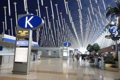 Aéroport international de Changhaï Pudong Images libres de droits
