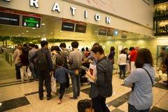 Aéroport international de Changi à Singapour Photographie stock