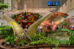 Aéroport international de Changi à Singapour Photo stock