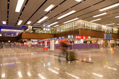 Aéroport international de Changi à Singapour Photos stock