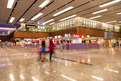 Aéroport international de Changi à Singapour Photographie stock libre de droits