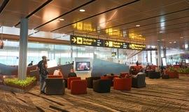 Aéroport international de Changi Photographie stock libre de droits
