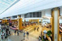 Aéroport international de Changi qui est situé à Singapour Images stock