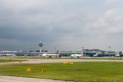 Aéroport international de Changi, Singapour Photo stock