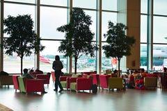 Aéroport international de Changi, Singapour Photos libres de droits