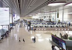 Aéroport international de Changi, terminal 4 Photo libre de droits