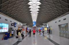 Aéroport international de Chengdu Shuangliu, Chine Photographie stock libre de droits
