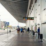 Aéroport international de couillon extérieur d'EL Image stock