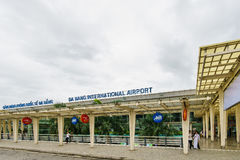 Aéroport international de Da Nang au Vietnam Photo stock