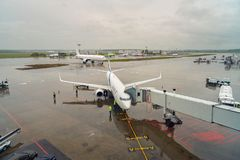 Aéroport international de Domodedovo Photo stock