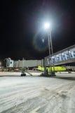 Aéroport international de Domodedovo d'échelles télescopiques Photos libres de droits