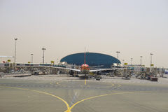 Aéroport international de Dubaï Images stock