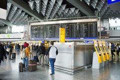 Aéroport international de Francfort à Francfort, Allemagne Photo stock