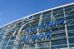 Aéroport international de Francfort, Allemagne Photo stock