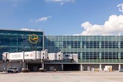 Aéroport international de Francfort, Allemagne Images libres de droits