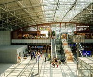 Aéroport international de Francfort de terminal d'aéroport Image stock