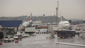 Aéroport international de Guarulhos à Sao Paulo, Brésil. Images libres de droits