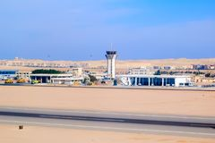 Aéroport international de Hurghada Égypte Photo libre de droits