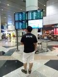 Aéroport international de KLIA 1, Kuala Lumpur Image libre de droits