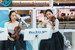 Aéroport international de la Corée du Sud, Incheon Concert de classique Images libres de droits