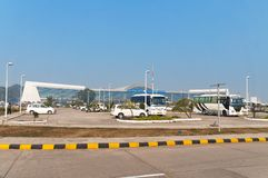 Aéroport international de Lal Bahadur Shastri International Airport ou de Varanasi Images stock