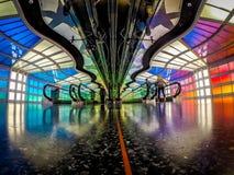 Aéroport international de lièvres de ` de Chicago O à l'intérieur près du concours C Photos libres de droits