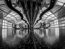 Aéroport international de lièvres de ` de Chicago O à l'intérieur près du concours C Photographie stock