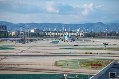Aéroport international de Los Angeles Photo stock